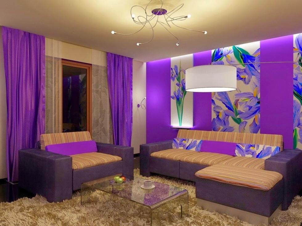 Phòng ngủ màu tím lãng mạn