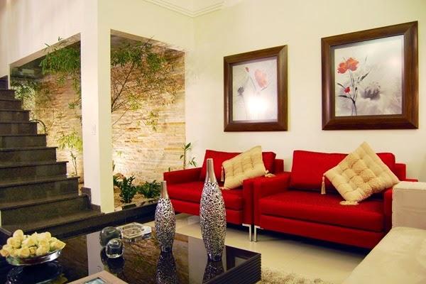 Thiết kế nội thất chung cư phòng khách cho người mệnh Hỏa