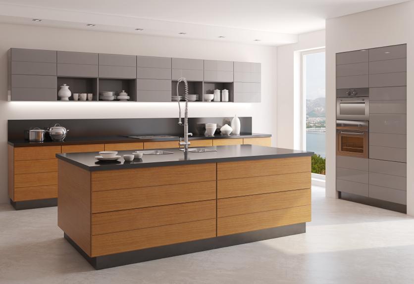 Màu gỗ tạo cảm giác ấm cúng trong căn bếp