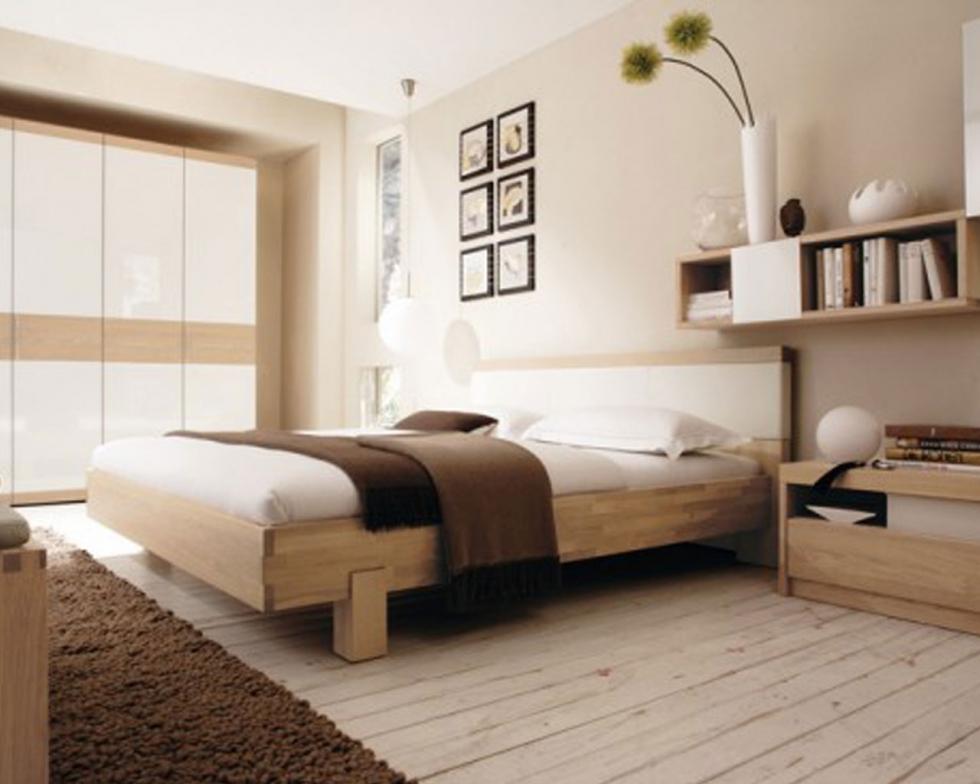 Phòng ngủ với gam màu gỗ ấm cúng