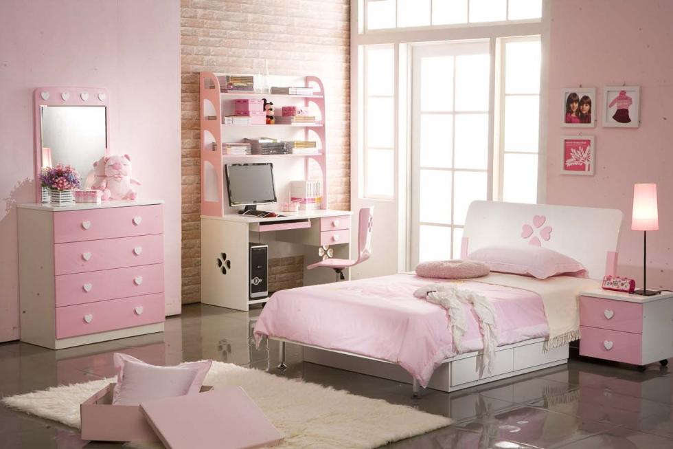 Phòng bé gái thường được tô điểm bởi gam màu hồng nữ tính