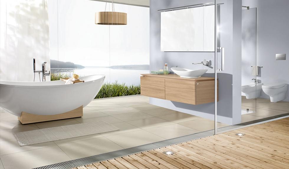 Phòng tắm với những gam màu sáng chủ đạo tạo cảm giác sạch sẽ
