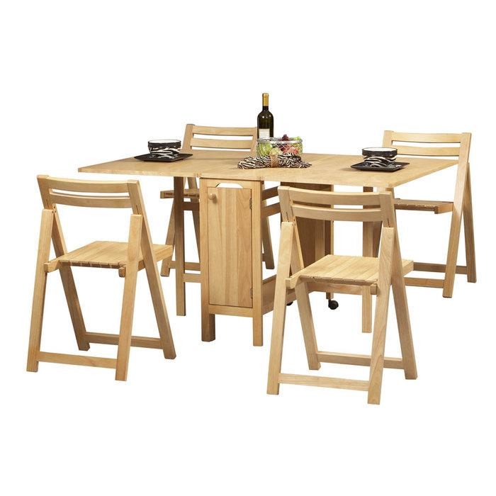 Mẫu bàn ăn gấp gọn 4: Cho nhà ở 4 người tiết kiệm diện tích