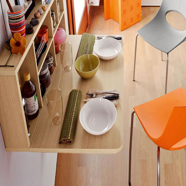 Bộ bàn ăn gắn tường thông minh