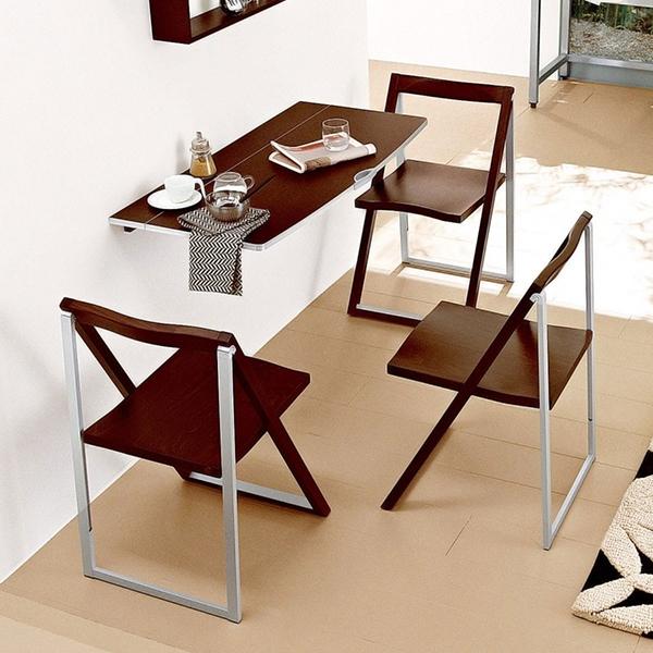Thêm một mẫu bàn ăn gắn tường làm từ gỗ sồi tự nhiên