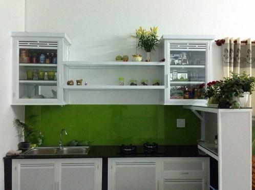 Phòng bếp được bố trí rất gọn gàng