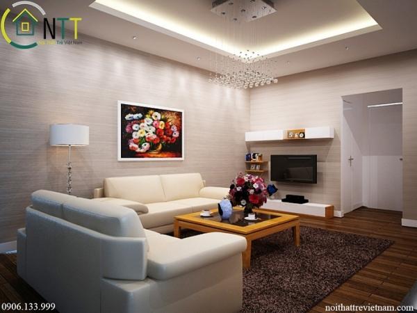 tổng quan thiết kế nội thất phòng khách hiện đại anh Nam