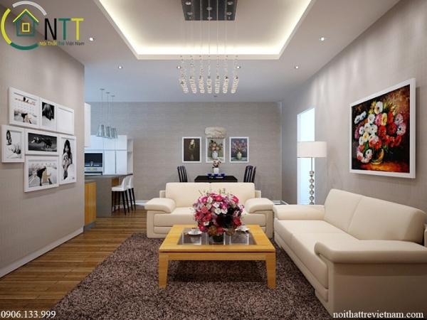 Chi tiết nội thất phòng khách hiện đại anh Nam