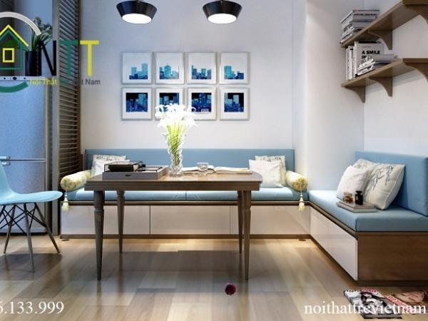 Bộ bàn ghế sofa thiết kế đơn giản, hiện đại