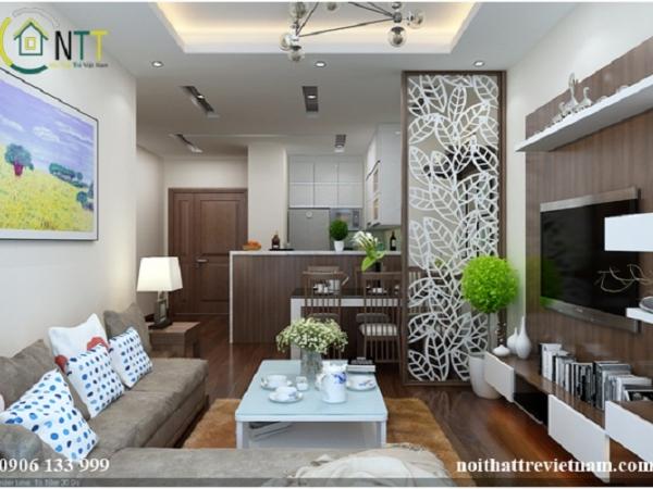 Thiết kế phòng khách liền bếp, không gian mở