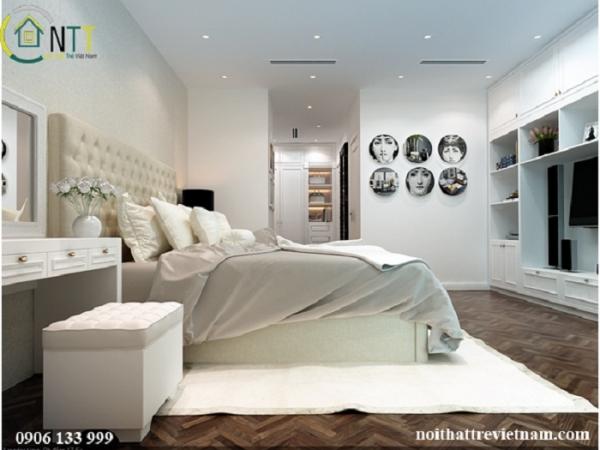 thiết kế nội thất phòng ngủ đẹp chị trâm