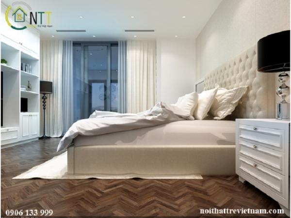 một góc nhìn khác cho thiết kế nội thất phòng ngủ đẹp nhà chị trâm