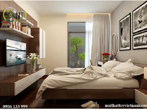 Thiết kế phòng ngủ 20m2 chung cư cô Hồng