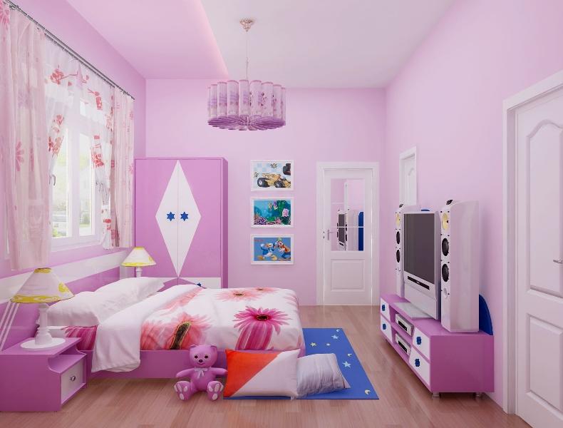 Mẫu 12: Màu tím sữa sang trọng làm nổi bật phòng ngủ nhỏ xinh