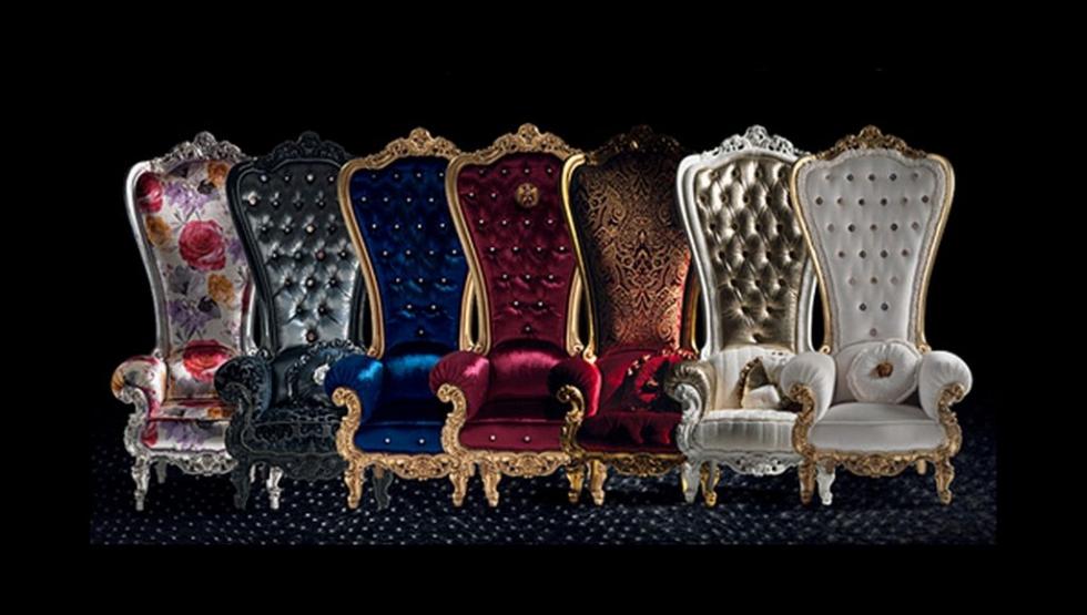 Ghế tựa sofa đa sắc màu thiết kế theo phong cách châu Âu cao cấp