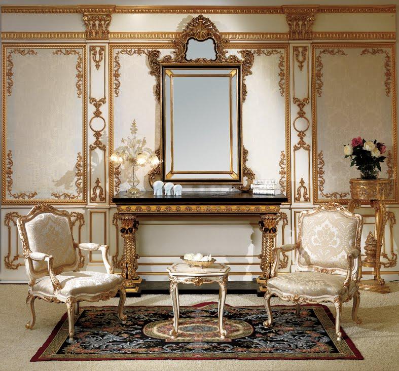 Bàn tiếp khách thiết kế theo phong cách cổ điển Pháp