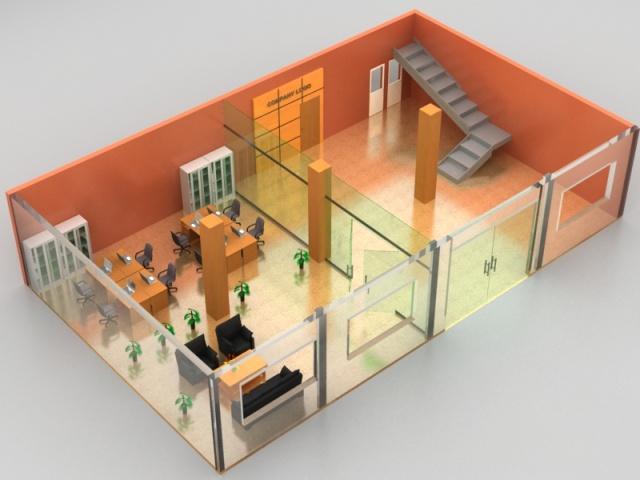 Thiết kế nội thất văn phòng 3D