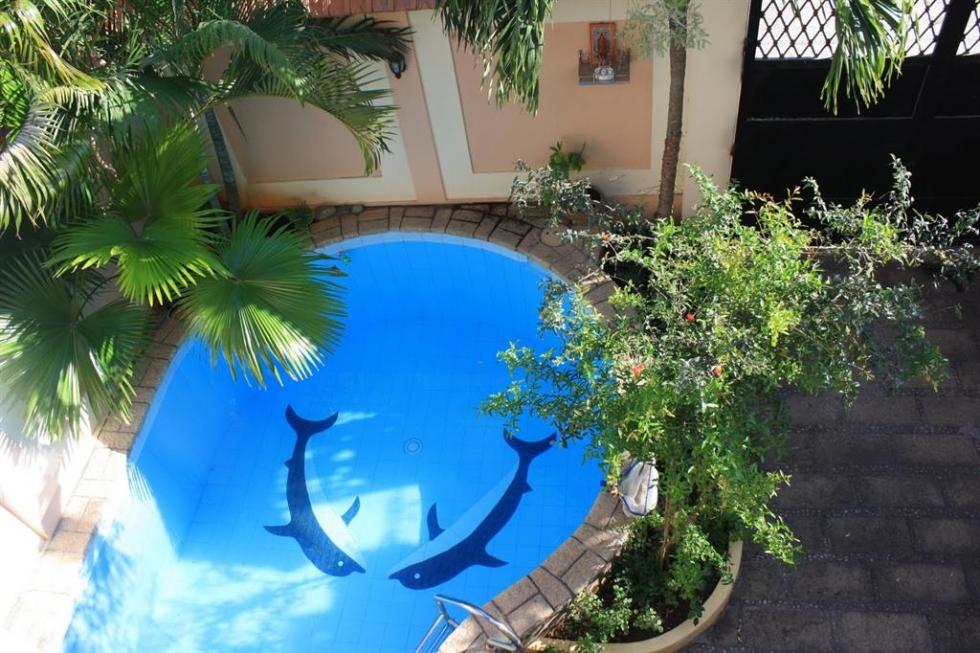 xây bể bơi trong sân vườn có diện tích nhỏ