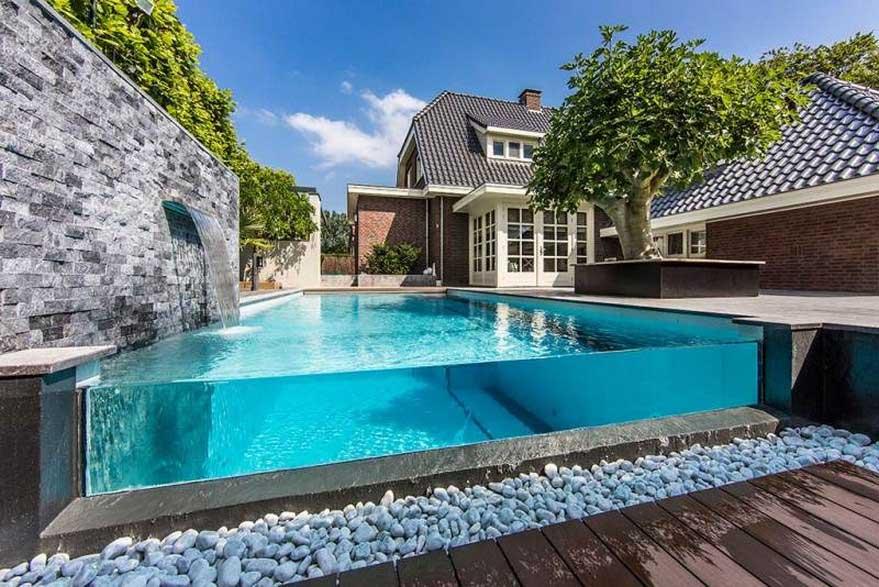 Kết cấu bể bơi trên mái