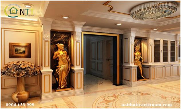 Kiến trúc nội thất kiểu đối xứng mẫu 1