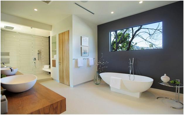 Phòng tắm khá đơn giản nhưng được bố trí rất hợp lý