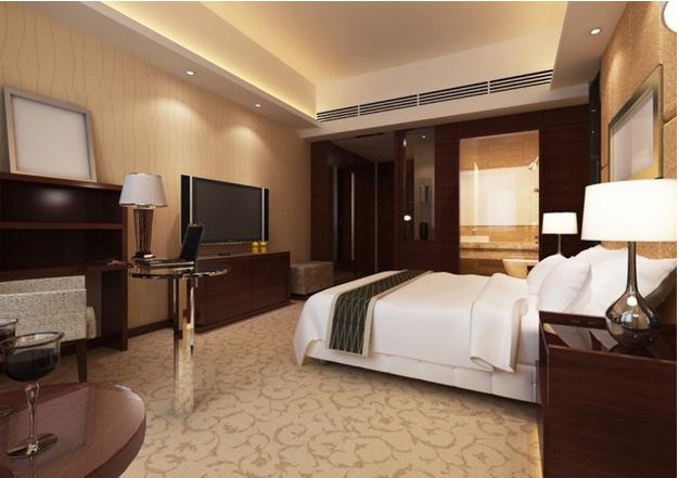 Mẫu phòng ngủ khách sạn được bố trí rất hợp lý