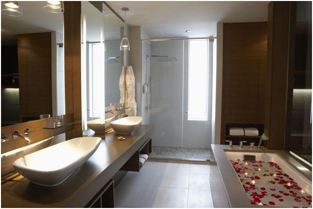 Phòng tắm được bố trí hài hòa