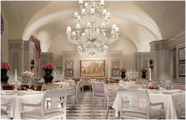 Nội thất nhà hàng phong cách Châu Âu mẫu 2