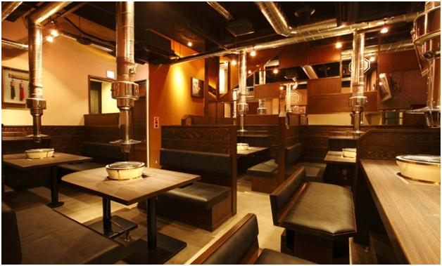 Nội thất nhà hàng phong cách Hàn Quốc mẫu 2