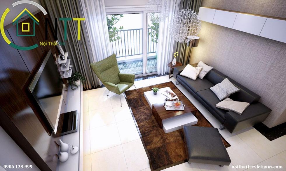 Mẫu phòng khách cho nhà liền kề mẫu 2