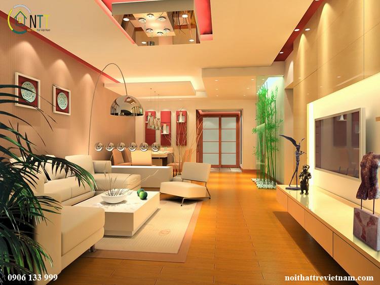 Phòng khách nhà ống 4m và phòng khách nhà ống 5m