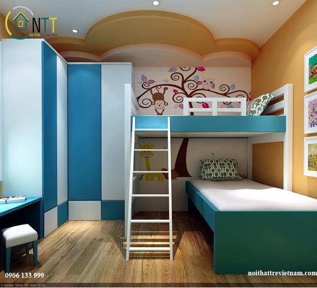 Nội thất phòng ngủ cho bé trai và bé gái