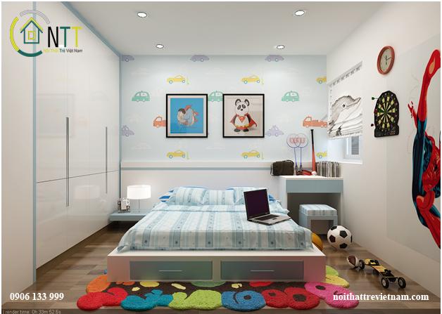 Phòng ngủ cho một hoặc hai bé trai