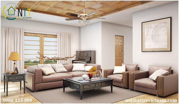 Thiết kế phòng khách có điểm nhấn
