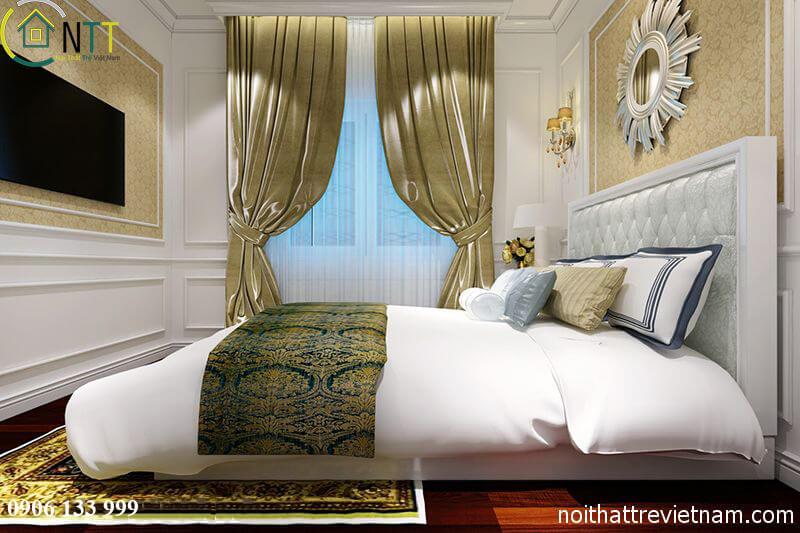 Thiết kế nội thất phòng ngủ cổ điển mẫu 2