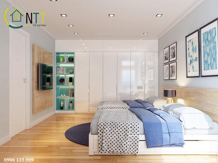 nội thất phòng ngủ căn hộ chung cư 100m2