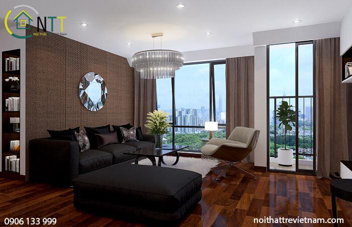 nội thất chung cư 100m2 hiện đại
