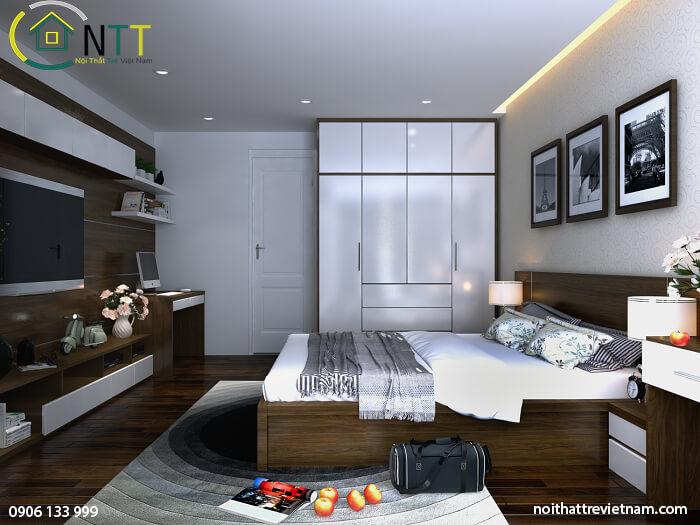 phòng ngủ chung cư 100m2
