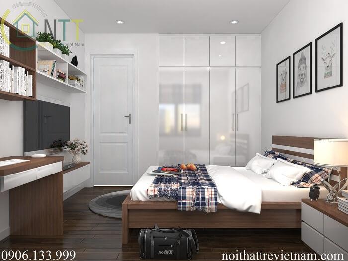 phòng ngủ master chung cư 100m2