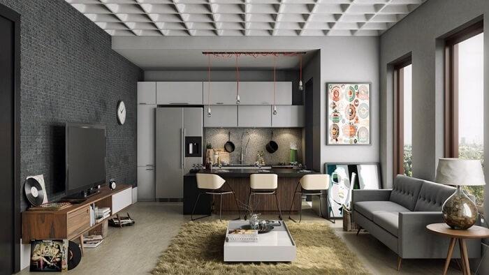 thiết kế nội thất chung cư 100m2 theo không gian mở