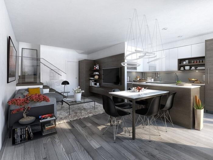 Tạo ảo giác quang học bằng việc sử dụng màu trắng giúp căn hộ rộng hơn