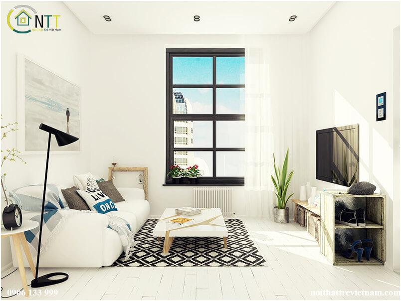 Thiết kế nội thất chung cư theo phong cách Mỹ