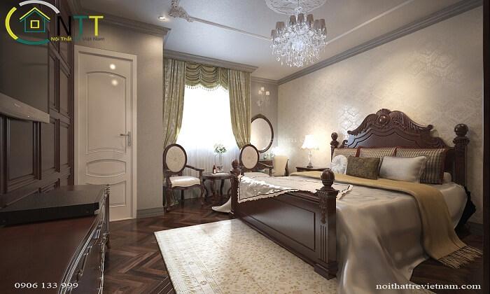 Thiết kế nội thất chung cư cao cấp theo phong cách cổ điển