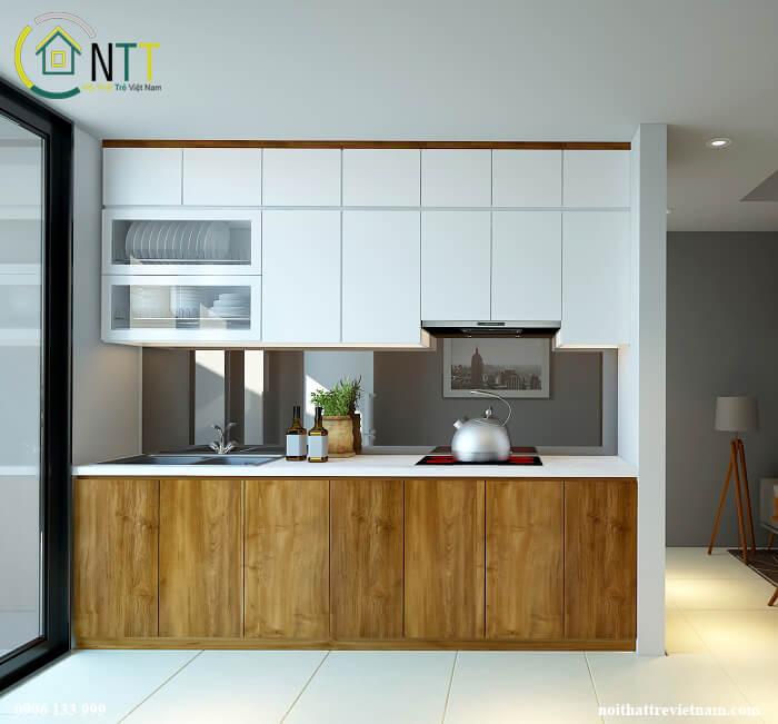 nội thất tủ bếp căn hộ 70m2