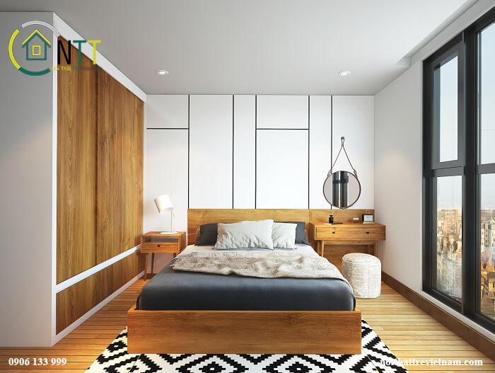 giường ngủ và tủ áo gỗ công nghiệp