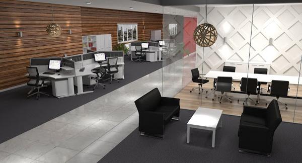 Một mẫu văn phòng theo xu hướng mở khác
