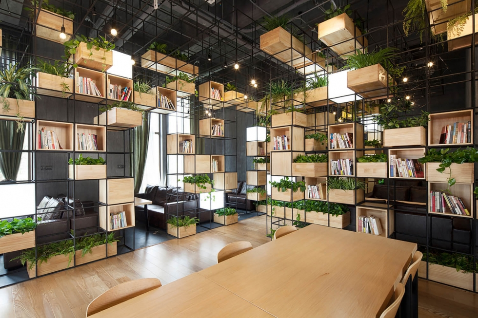 thiết kế văn phòng không gian xanh