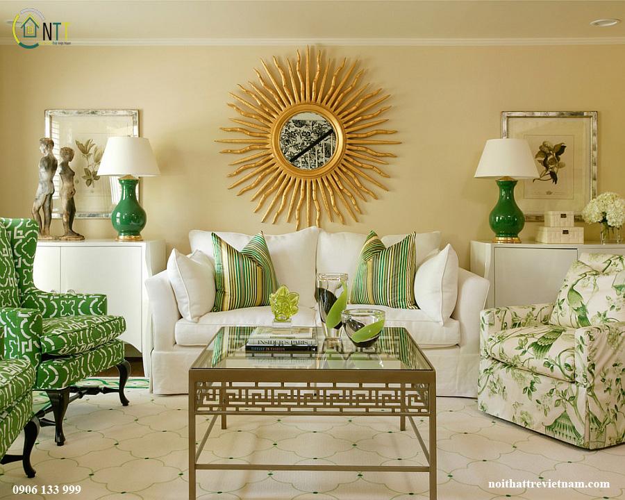Thiết kế đối xứng ấn tượng cho phòng khách