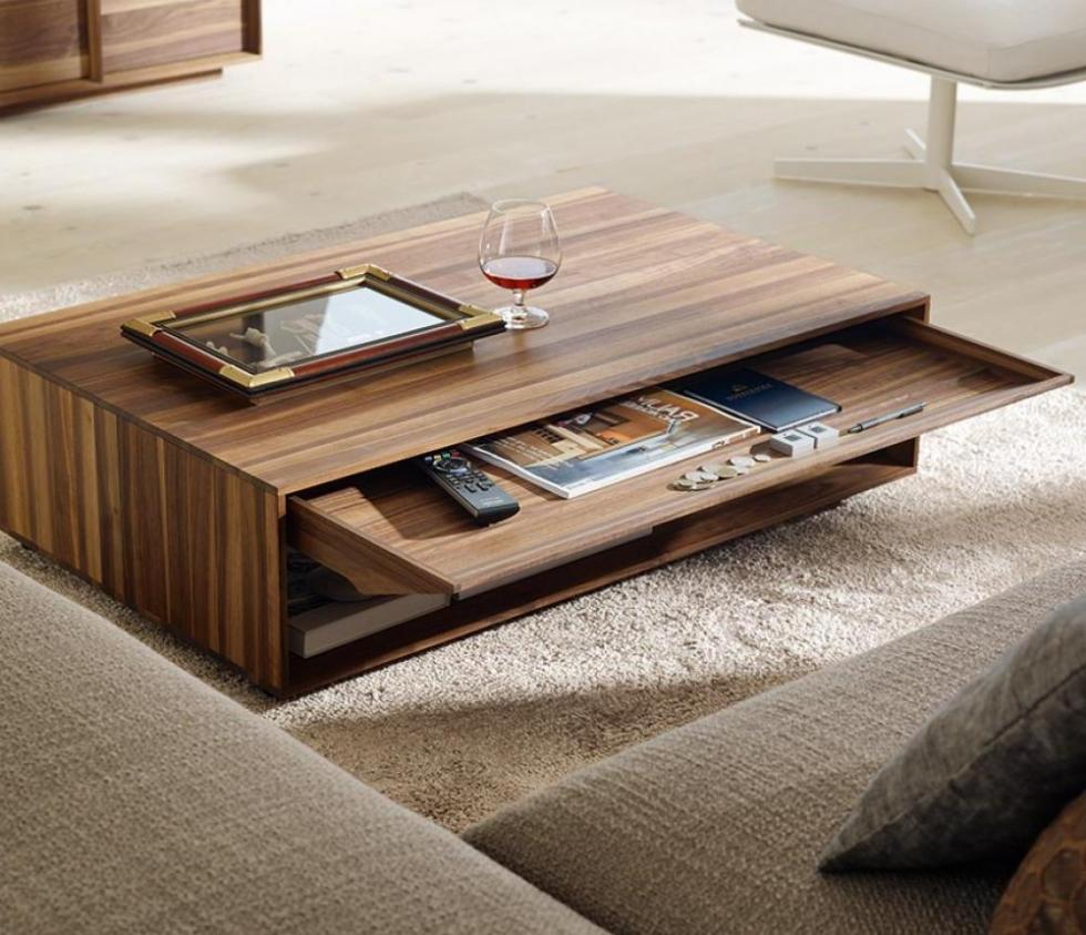 Bàn gỗ đa năng cho phòng khách nhỏ